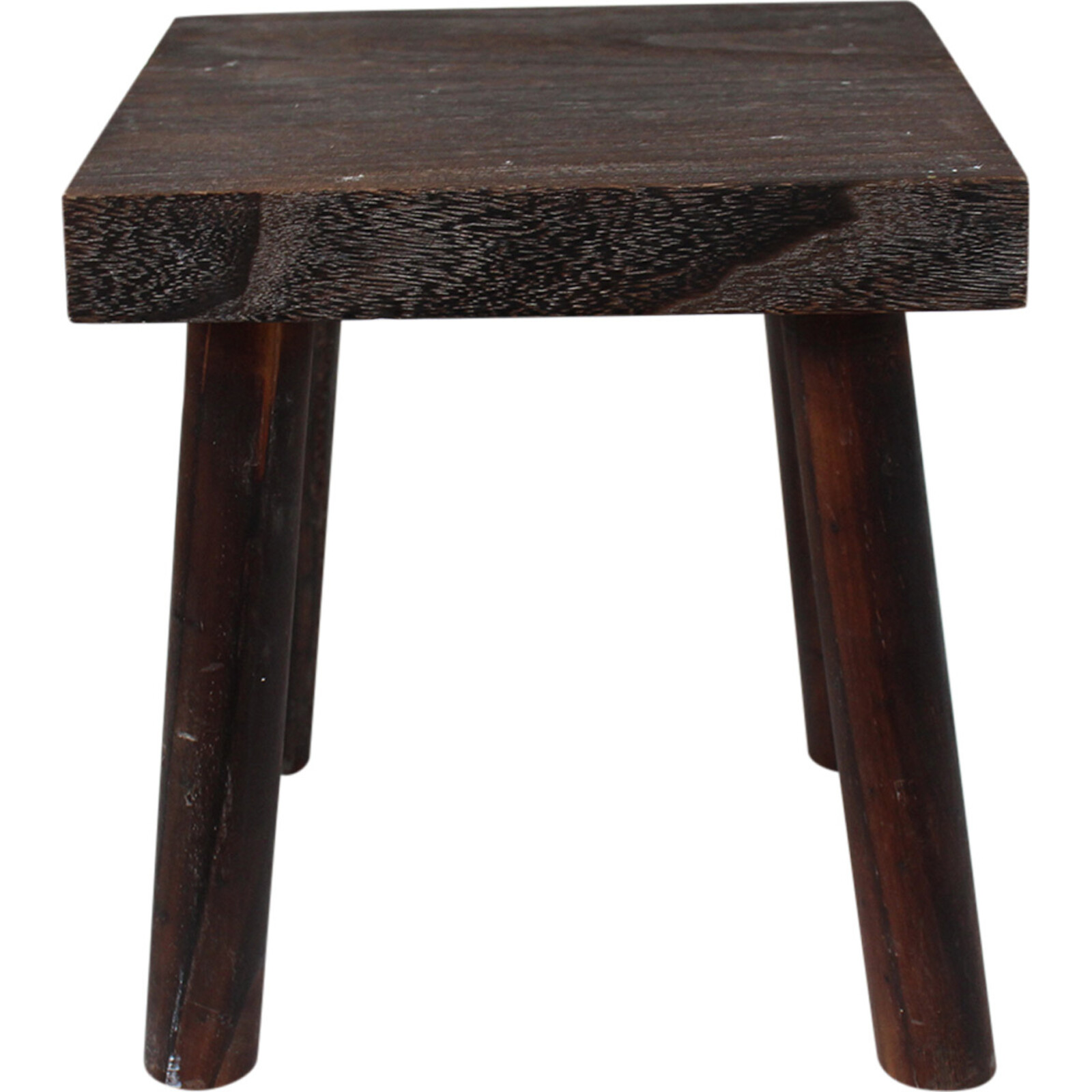 Wood Square Stool Lrg